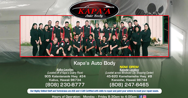 auto body  collision repair  body shop kailua hi